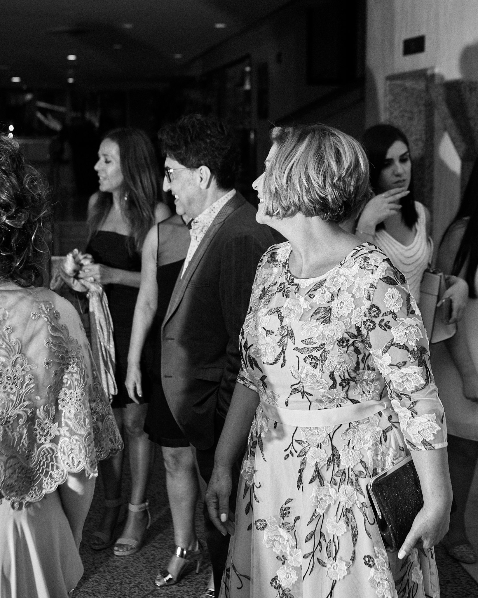 A black and white wedding photograph from the wedding of Rima and Ibrahim, held at the Palm Beach hotel in Larnaca, Cyprus  - by International destination wedding photographer -  Richard King  A wedding full of Lebaneese charm.