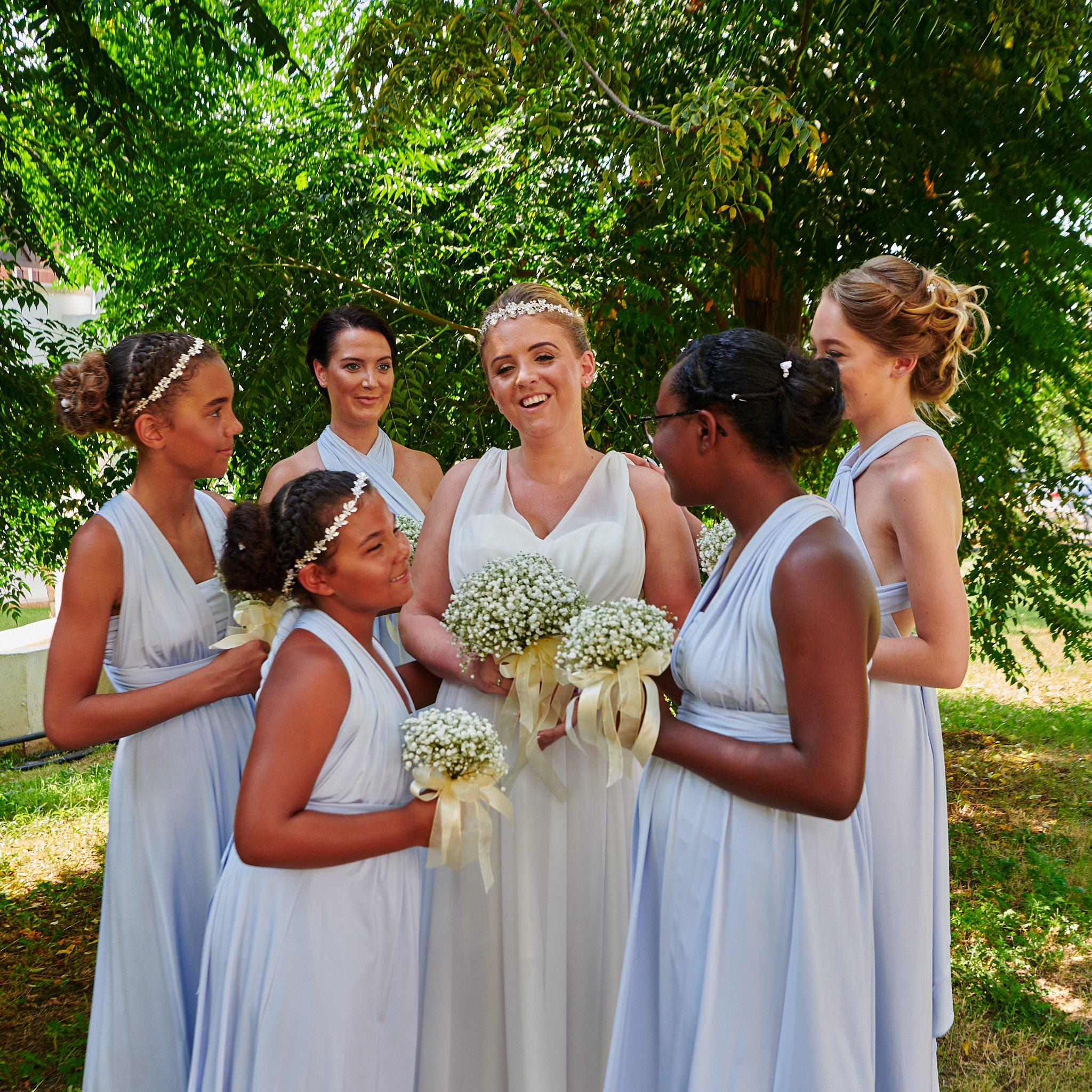 A cuddle of Bridesmaids