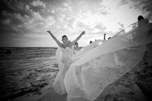 Kirsty-lee and Matthew – Poseidon Beach – Ayia Thekla – August 2018 – Black and White
