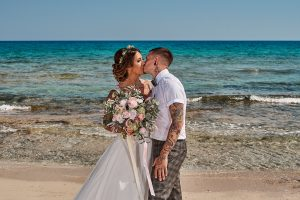 Abbie and Lee's relaxed Bohemian Grecian wedding in Ayia Thekla  // July 2019